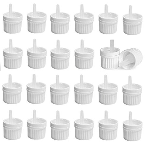 Nakpunar 24 pcs Max 74% OFF 18mm White Tamper Orifice Evident w At the price of surprise Caps Reducin