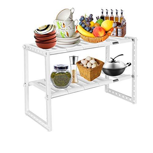 Cozywind scaffale sottolavello stoviglie ripiano sotto lavello cucina mobile scaffale cucina salvaspazio sottolavello estensibile ripiano 2 livelli per cucina bagno
