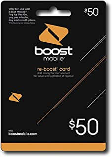 $50 Re-boost Card By Boost Mobile
