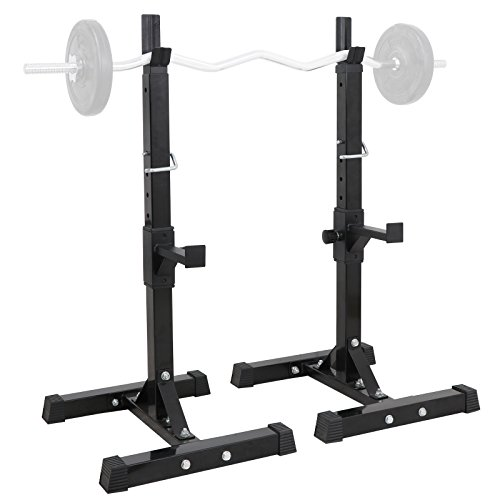 rack stands ZENY Pair of Adjustable Squat Rack Stand Barbell Rack Weight Lifting Stand Bench Press Rack Home Gym Equipment Dumbbell Racks Stands 41-66in 550 LBS Capacity
