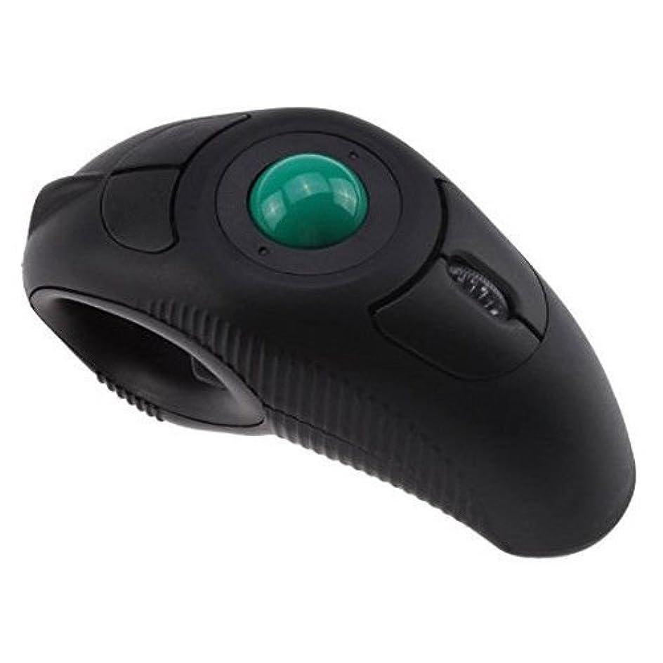 生き残り手郡FidgetGear ワイヤレスハンドヘルドUSBマウス トラックボールマウス ブラック S5T2