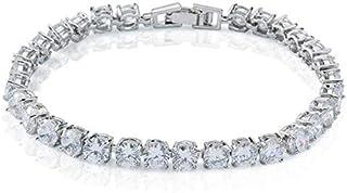 Diamond Like Fashion Bracelet White Gold Plated Inlaid Zirconium Stones