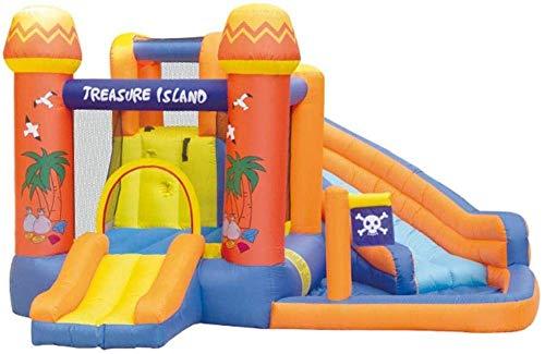 ROM Castillo Hinchable Inflable con trampolín, Piscina para niños, tobogán de Agua y Pared de Escalada, Piscina Inflable Grande para niños