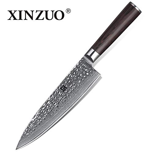 Best Quality Kitchen Knives 8 inch Chef Knife Chinese 67 Layers Damascus Steel Kitchen Knife Newarrive Professional VG10 Cooking Knife Pakkawood Handle