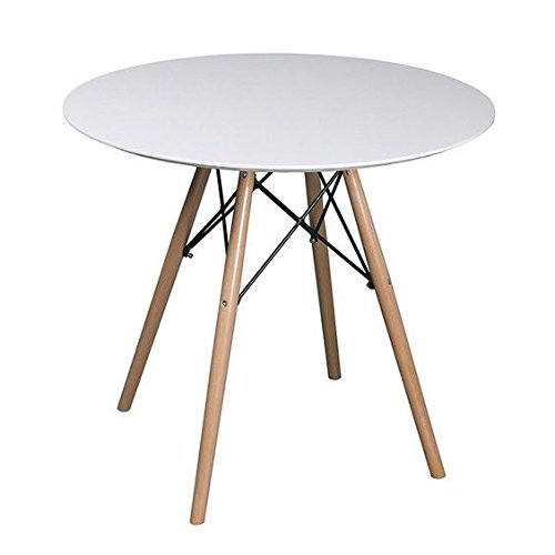 Snug Furniture - Scandi Dining Table in White Gloss & Beech
