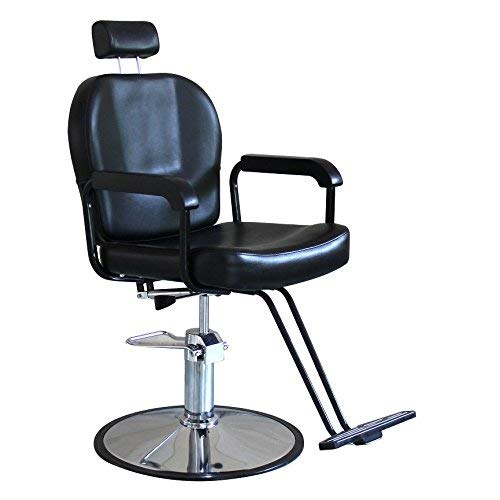 BeautyStar Salon Furniture Haircut Chair for All Purpose Barber Shave Hair Cutting Styling Shampoo Waxing with Hydraulic Pump