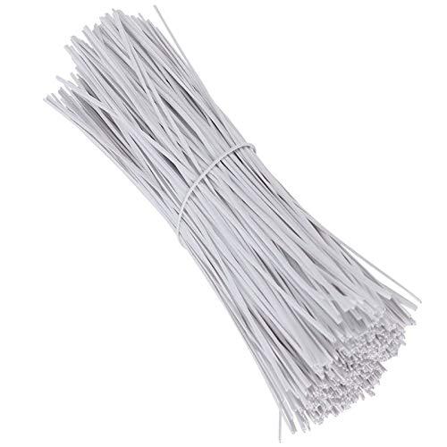 Kabelbinder Kunststoff Kabelbinder Aus Plastik Eisendraht PVC Kunststoff Twist Kabelbinder Wiederverwendbare Bindedraht Garten Drahtbinder für Pflanzen Sicherung (1000 Stück)