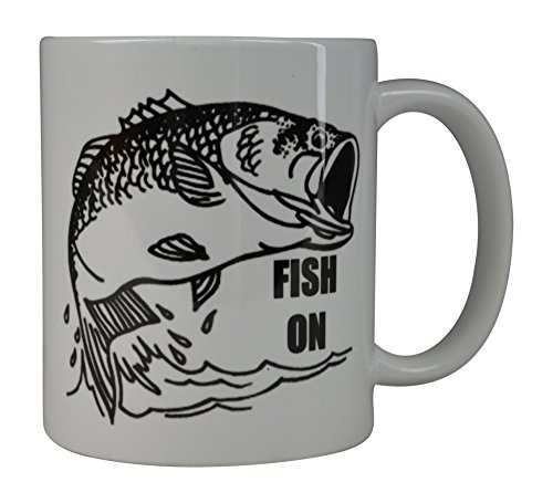 Rogue River Best Coffee Mug Fishing Fish On Novelty Cup Great Gift Idea For Men Him Dad Grandpa Fisherman (Fish On)