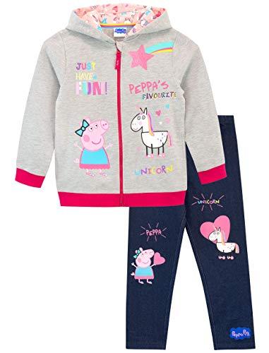 Peppa Pig Conjunto de Sudadera con Capucha y Leggings para Niñas Unicornio Multicolor 6-7 Años