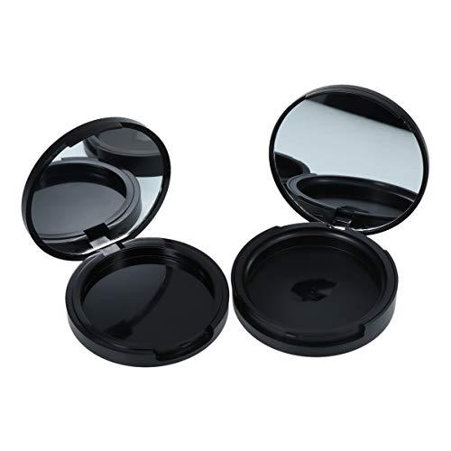 Lurrose 2 STKS Lege Poeder Case Twee lagen Gezicht Poeder Make-up Losse met Spiegel voor DIY Schoonheid Cosmetische Lippenstift Lippenbalsem Oogschaduw