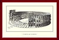 ポスター ヴェローナ larena di Verona 額装品 ウッドベーシックフレーム(レッド)
