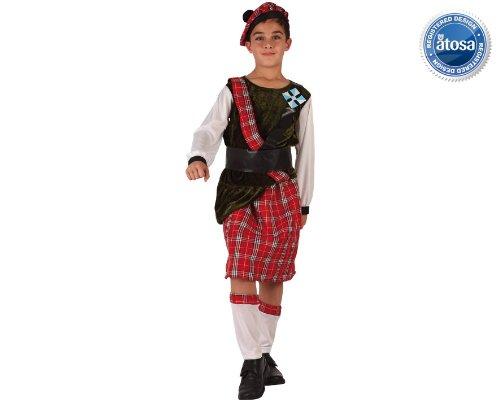Atosa-6127 Disfraz Escoces, Color Rojo, 3 a 4 años (6127)