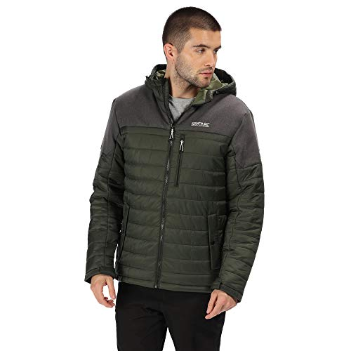 Regatta Orton Lightweight Water Repellent Wool Effect Down-Touch Insulated Hooded Jacket Chaquetas Acolchadas, Hombre