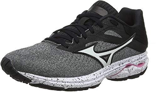 Mizuno Wave Rider 23, Zapatillas de Running Mujer, Gris/Blanco/Negro 72 (Grey glaciergray White Black 72), 42 EU