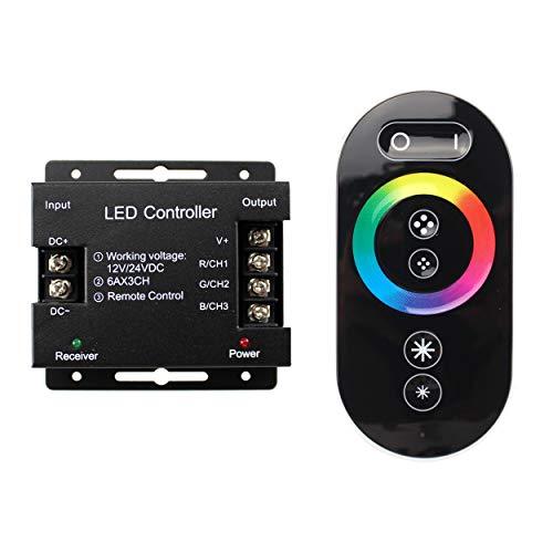 Regulador de intensidad para tiras de luz LED RGB (12 - 24 V, interruptor para regular la tecnología táctil, regulador de intensidad para tiras de luz LED)