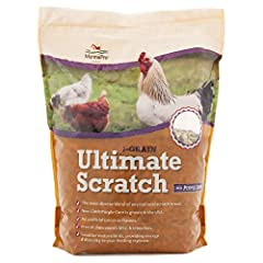 ENGAGING TREAT: Perfect blend of 7-grains to toss into your coop or out into your yard for your flock. NON-GMO: Crafted with Non-GMO US purple corn for added color to attract your birds. NATURAL: Manna Pro 7-Grain Ultimate Scratch contains no artific...