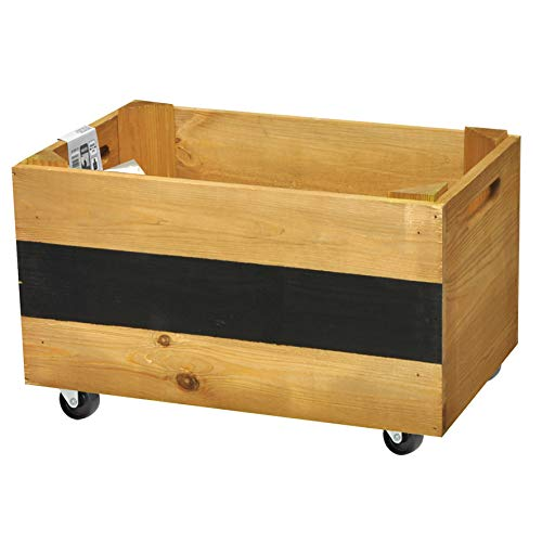 'Wagner Mobile Plante Beet Herbes Box – Pin Massif, FSC, Marron, 39 x 24 x 20 cm, 4 Roues, étiquette, Charge maximale 50 kg – 25021001