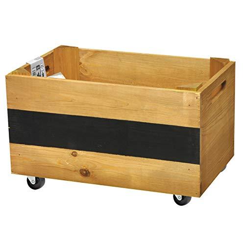 WAGNER GreenFAMILY - Mobiles Pflanzenbeet - KräuterBOX - Kiefer massiv, FSC, 4 Rollen, Beschriftungsfeld, Tragkraft 50 kg (braun)