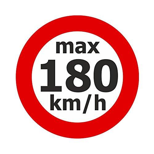 Adhesivo de velocidad máx. 180 km/h, 200 unidades.