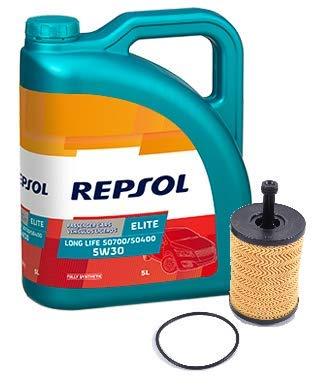 Repsol Duo motorolie Elite 50400 50700 5W-30 5 liter oliefilter Original TDi, 071115562C