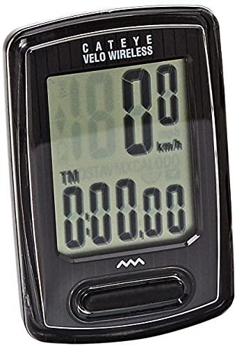 CatEye Negro COMPUTADORA Velo Wireless, Adultos Unisex, Medio