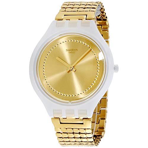 Swatch Skinglance SVOW104GB - Reloj unisex de acero inoxidable con esfera amarilla