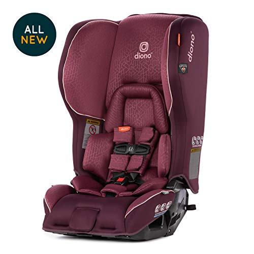 Diono Rainier 2AX Convertible Car Seat – Extended Rear-Facing 5-50 Pounds, Forward-Facing to 65 Pounds - Ultimate Luxury, All Star Safety, Plum