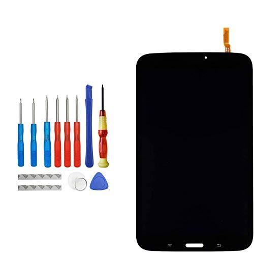 Upplus - Display LCD di ricambio, compatibile con Samsung Galaxy Tab 3 SM-T310, display LCD Touch Screen con kit di attrezzi (nero)