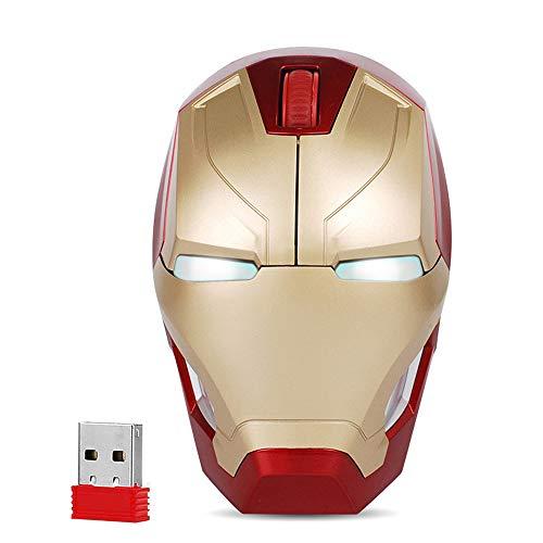 Cool Wireless Mouse Iron Man Bla...