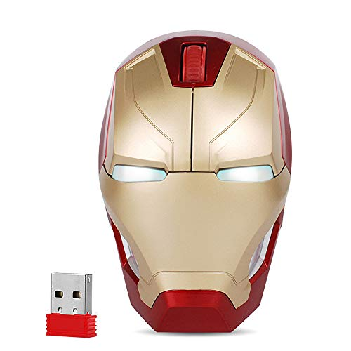 Cool Wireless Mouse Iron Man Bla...