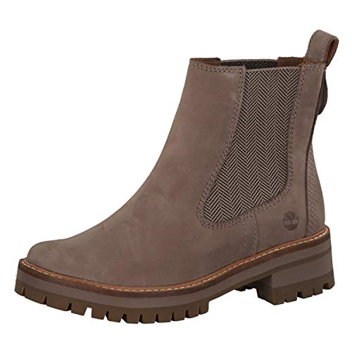 Timberland Damen Boots Courmayeur Valley Chelsea Taupe 37,5