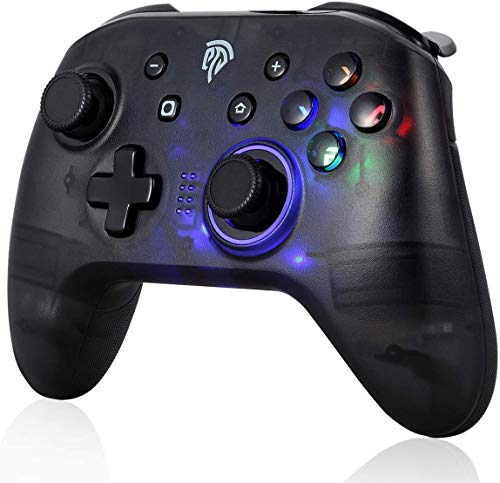 Wireless Controller for Switch, EasySMX Game Controller Gamepad Joypad Remote Joystick for Nintendo Switch Console Support Switch Lite and Windows 7/8/10 (Black)