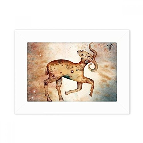 DIYthinker maart april Ram sterrenbeeld Zodiac Desktop fotolijst wit beeld kunst schilderij 5X7 Inch