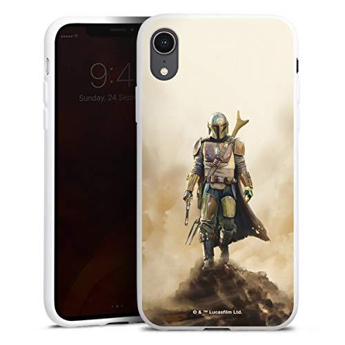 DeinDesign Silikon Hülle kompatibel mit Apple iPhone Xr Hülle weiß Handyhülle The Mandalorian Star Wars Offizielles Lizenzprodukt