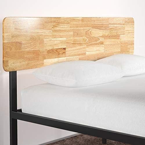 Zinus Olivia Metal and Wood Platform Bed with Wood Slat Support, Twin