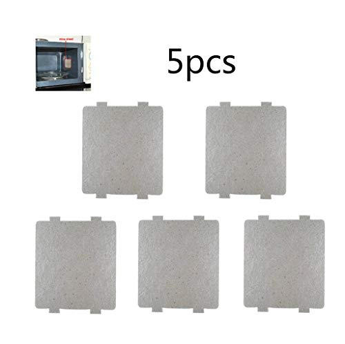 Svance 5 PCS Waveguide Cover, Universal Mica Sheet for Microwave Oven, Cut to Size, 108mmX99mm