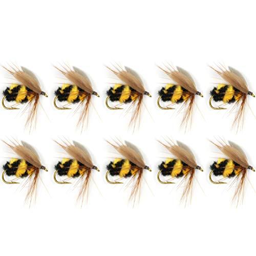 Vssictor Señuelos Bumble Bug Topwater/Crankbait Señuelo de Pesca, Pesca con Mosca Realista Avispa Steelhead Trucha arcoíris Señuelo Pesca con Mosca 🔥