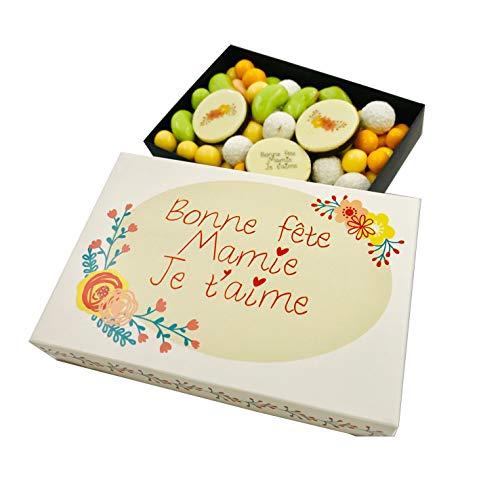 Ballotin de chocolat - COFFRET CADEAU LISEA MM - CHOCOLAT ARTISANAL 165g - COFFRET CADEAU CHOCOLAT (Version Bonne fête des grands mères mamy)