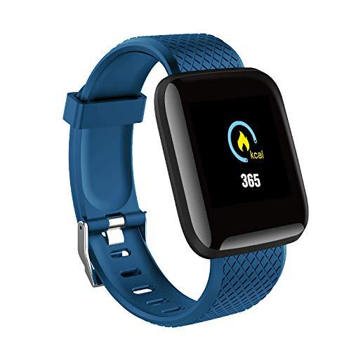 Sxgyubt Montre connectée Bluetooth avec fréquence cardiaque et pression artérielle taille unique bleu