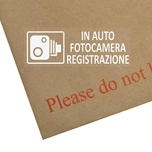 Platina Plaats 5 x In Auto Fotocamera Registrazione-Vetrofania-Avvertimento Veicolo Sicurezza-CCTV