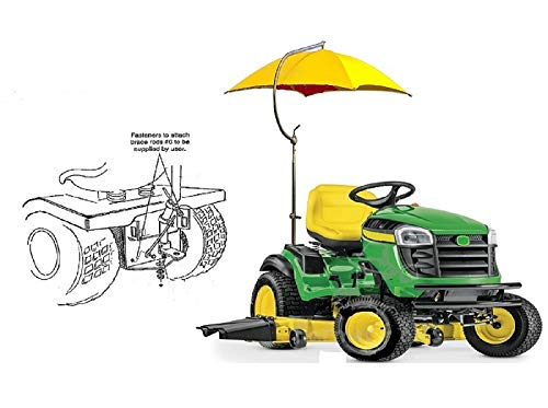 Yellow Lawn Mower Complete w/Mounting Bracket 41.5' Umbrella Canopy Coverage Farmer Bob's Parts 405930
