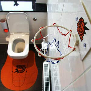 Monsterzeug Basketball für die Toilette, Toiletten Basketball Set, Basketballkorb Toilette, Slam Dunk Toilet