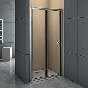 Mamparas Puerta Abatible Pantalla de Ducha 6mm cristal para 80x185cm