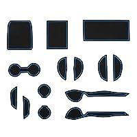 KINMEI(キンメイ) トヨタ 新型 プリウス PRIUS 40系 青 専用設計 インテリア ドアポケット マット ドリンクホルダー 滑り止め ノンスリップ 収納スペース保護 TOYOTAPRIUS-40-b