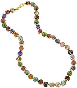 GlassOfVenice Collar Sommerso de cristal de Murano, multicolor