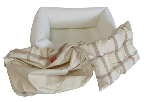 アッピィ オーガニックコットン 多色チェック柄 プレミアム・スクエア型 (カバーが外せる) S サイズ