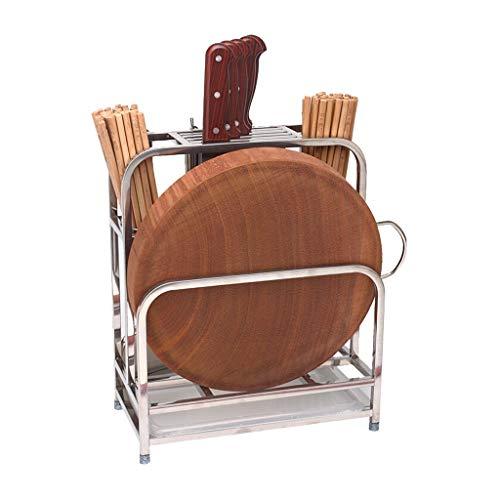 LZQBD Cocina de Acero Inoxidable Estante Del Cuchillo Titular de la Tarjeta de Corte Cubiertos Rack de Almacenamiento en Rack Rack de Drenaje Rack Cocina para Guardar Objetos gfdffdscvsv