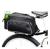 LMZJLU Bolsa de Asiento Trasero de Bicicleta, Estuche de Bicicleta, Bolsa de Camello de Bicicleta, Bolsa de Equipaje de Bicicleta Negra