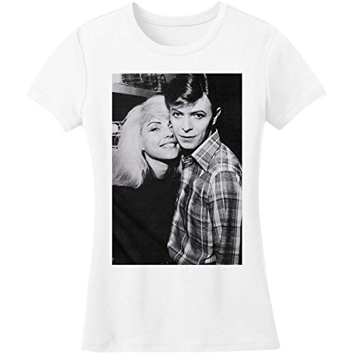 David Bowie David and Debbie Harry Junior Top Large White