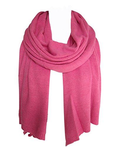 niceandnoble Schal pink Strickschal Wolle Kaschmir Cashmere Wollschal warm made in Italy